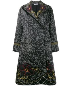 J.W. Anderson | J.W.Anderson And Squiggle Embroide Coat 10 Silk/Acetate/Polyester