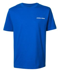 Andrea Crews | Logo Chest Print T-Shirt Medium Cotton