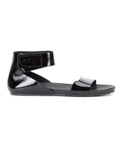 Pedro García | Pedro Garcia Joliner Sandals 6.5 Patent Leather/Leather/Rubber