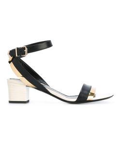 Lanvin | Block Heel Sandals 37.5 Leather