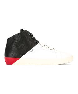 Leather Crown | Contrast Block Trainers 45 Leather/Cotton/Rubber
