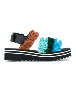 Suecomma Bonnie | Gathered Fabric Sandals