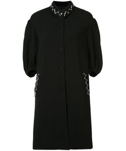 Sonia Rykiel | Embellished Buttoned Coat 36 Cupro/Rayon/Polyester