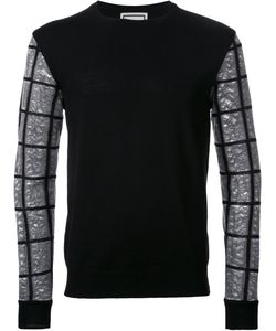 Wooyoungmi | Checked Sleeve Jumper 46