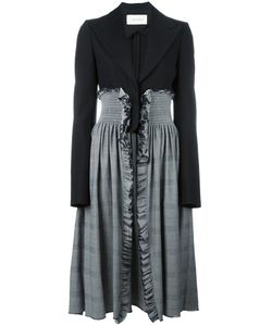 Cedric Charlier | Cédric Charlier Contrasting Panel Coat 42 Virgin Wool/Cotton