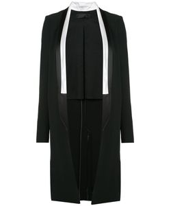 Haider Ackermann | Long Contrast Trim Jacket 38