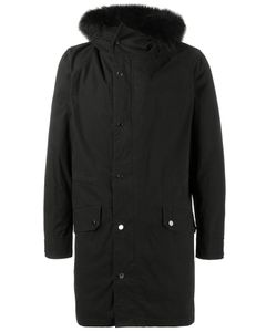 YVES SALOMON HOMME | Raccoon Fur Trimmed Parka Jacket 56