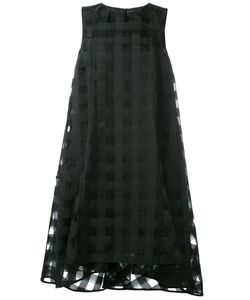 Ultràchic | Sheer Checked Layer Dress 42 Polyester/Viscose