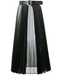 JUNYA WATANABE COMME DES GARCONS | Junya Watanabe Comme Des Garçons Belted Sheer Pleated Skirt
