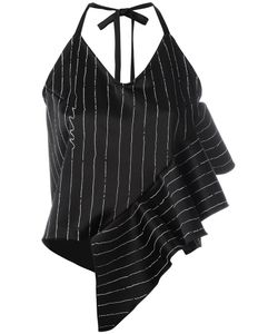SSHEENA | Striped Ruffle Trim Top Size Medium