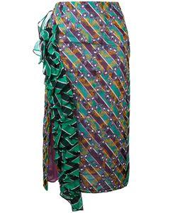 Marco De Vincenzo | Patterned Frill-Trim Skirt