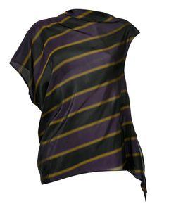 08SIRCUS | Striped Asymmetric Blouse Size 1