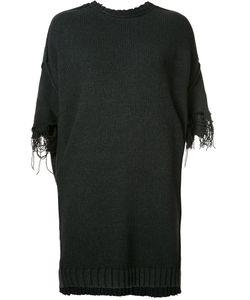 R13   Frayed Sleeve Jumper Xs Acrylic/Cotton/Wool