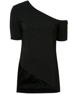 ROSETTA GETTY   Cold-Shoulder T-Shirt 4 Silk/Viscose/Spandex/Elastane