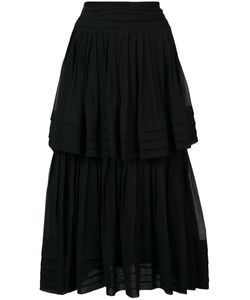 Carolina Herrera | Ruffled Chiffon Skirt 12 Silk