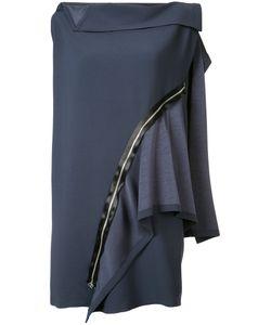 Issey Miyake | Платье С Панельным Дизайном И Декоративной Молнией
