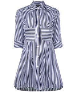 ROSSELLA JARDINI   Striped Shirt Dress Size 42 Cotton