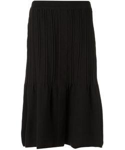 EGREY | Pleated A Line Skirt Medium Viscose/Acrylic/Polyamide/Spandex/Elastane