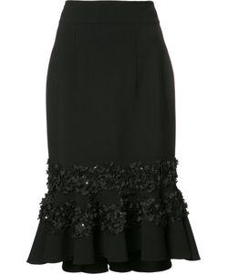 Carolina Herrera   Embroidery Ruffled Skirt 6 Virgin