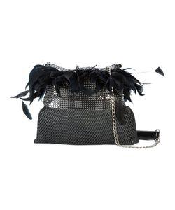 LAURA B | Light Feather Trim Shoulder Bag Women