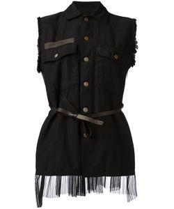 Pihakapi | Sleeveless Tie-Waist Jacket Xs Cotton/Polyamide/Leather