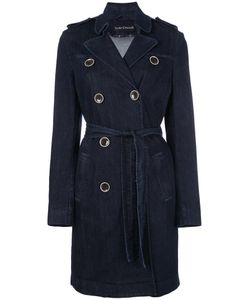 Luisa Cerano | Button-Embellished Coat 38 Cotton/Elastodiene/Spandex/Elastane