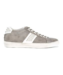 Leather Crown | Studded Sneakers Size 45