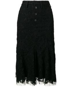 Victoria, Victoria Beckham | Victoria Victoria Beckham Lace Detail Skirt 10 Wool/Polyamide/Silk/Spandex/Elastane