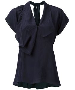 Marni | Draped V-Neck Blouse 44