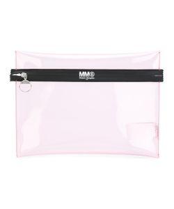 MM6 by Maison Margiela   Logo Print Zipped Pouch