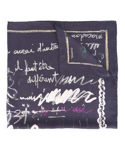 Chanel Vintage | Шарф С Письменным Принтом