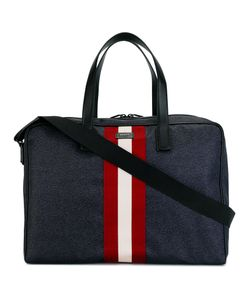 Bally | Contrast Stripe Holdall Nylon/Leather