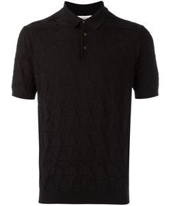 Ports   1961 Star Knit Polo Shirt Large Silk/Cotton
