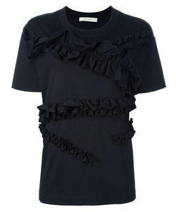 Cedric Charlier | Cédric Charlier Ruffled T-Shirt 42 Cotton