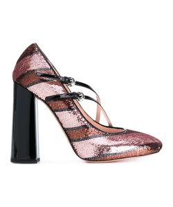 Rochas | Полосатые Туфли С Блестками