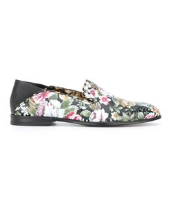 Alexander McQueen | Print Loafers 36.5 Lamb Skin/Leather