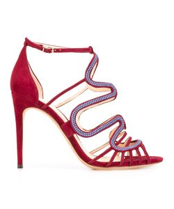 Alexandre Birman | Flavia Sandals 40 Cotton/Leather/Suede