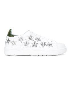 Chiara Ferragni | Sequinned Stars Sneakers 37 Calf Leather/Leather/Rubber/Cotton