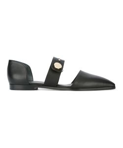 Emporio Armani | Cut-Out Loafers 38 Leather