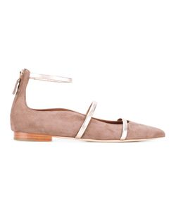 MALONE SOULIERS | Robyn Ballerinas 37 Calf Suede/Leather