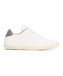 Leather Crown | Perforated Logo Sneakers 44 Leather/Cotton/Rubber