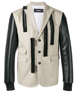 Dsquared2 | Leather Ruffle Blazer 52