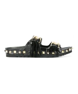 Ash | Studded Sandals 36 Calf Leather/Leather/Rubber/Metal