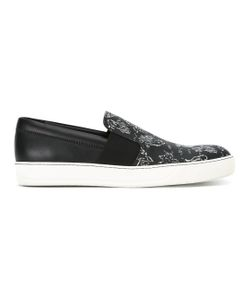 Lanvin   Pull-On Printed Sneakers