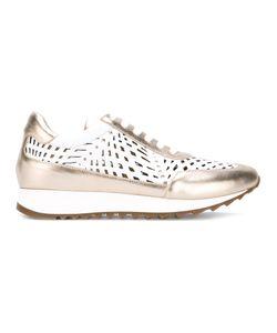 Loriblu | Cut Out Panel Sneakers 38 Calf Leather/Foam