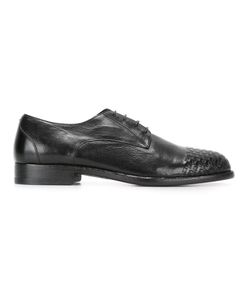 Pantanetti | Woven Toe Cap Derby Shoes 42.5 Leather