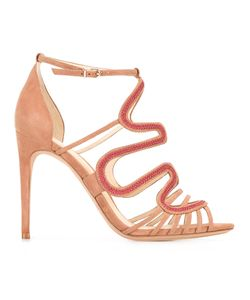 Alexandre Birman | Flavia Sandals 36 Cotton/Leather/Suede