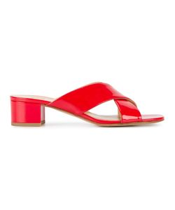 Maryam Nassir Zadeh | Crossover Strap Sandals Leather/Patent