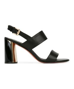 Baldinini | Buckled Sling-Back Sandals 38 Calf Leather/Leather