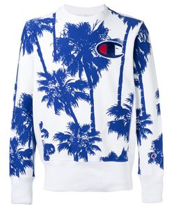 Champion | Palm Tree Print Sweatshirt Size Large